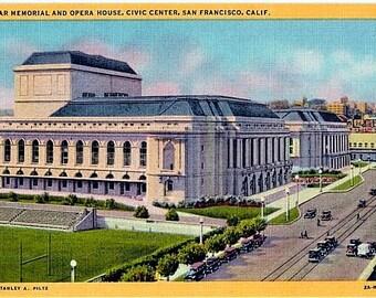 Vintage California Postcard - The War Memorial Opera House, San Francisco (Unused)