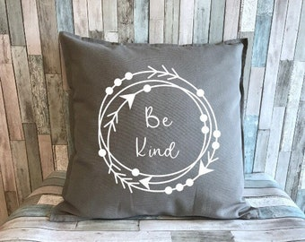 Be Kind decorative pillow cover