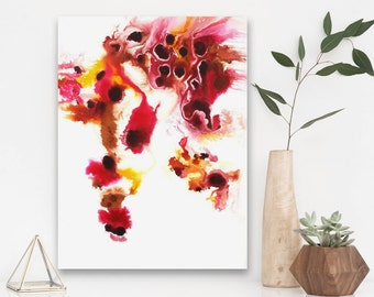 Aspirus - Original Watercolor Painting on Cradle Panel - Abstract Home Decor