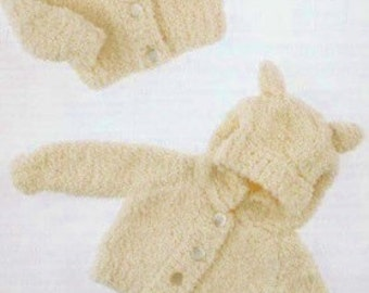 Cardigan With/Without Hoodie And Ears, Knitting Pattern. PDF Instant Download.