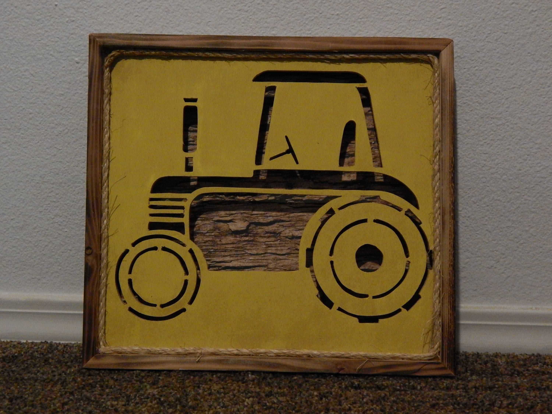 John Deere Tractor Wall art nursery decor Farmer Farming