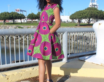 African Print Dress Ankara Clothing Please Read Item Details 2 3 Day Delivery