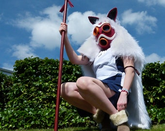 Princess Mononoke Mask and Cape