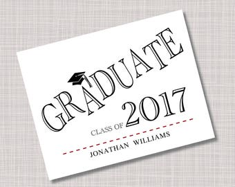 Custom GRADUATE Graduation Thank You Note Cards
