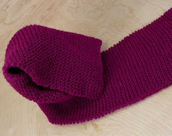 Maroon Knitted Scarf