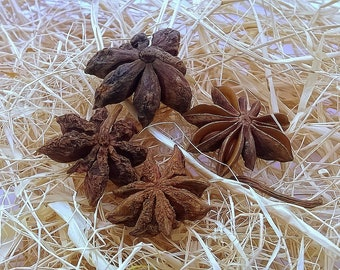 Star Anise Tea, Organic Star Anise, Star Pods, Anise Flower, Whole Star Anise, Dried Anise, Wiccan Tea, Healing Tea, Dried Herbs 2.12oz