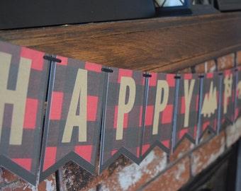 Lumberjack Birthday, Lumberjack Birthday Banner, 1st Birthday Banner, 1st Birthday Decor, Lumberjack Birthday Decor