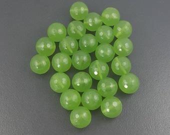 Large Peridot Glass Beads, 16mm round, 25 pieces, faceted, round, green, glass, green glass beads, large beads, faceted green beads,mgsupply
