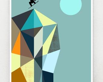 Snowboarder, print