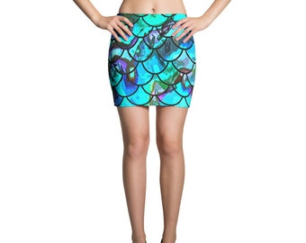 Fish Scale Mini Skirt