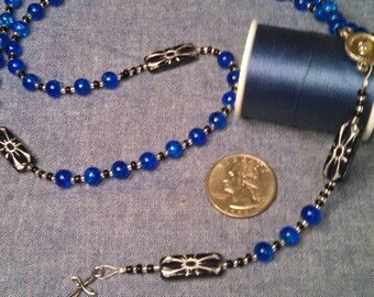Black and Blue Pope Francis rosary