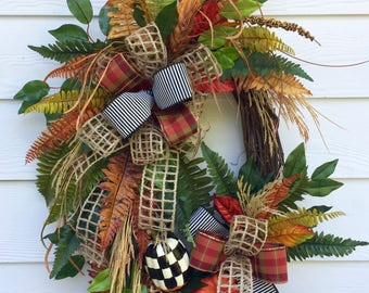 Fall Grapevine Wreath-Best Door Wreath-Best Fall Wreath-Thanksgiving Wreath-Best Autumn Wreath-Thanksgiving Decor-Front Door Wreath-Autumn