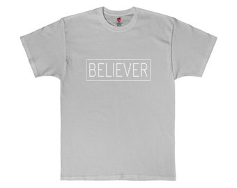Believer White Graphic Tee Made in USA T-Shirt