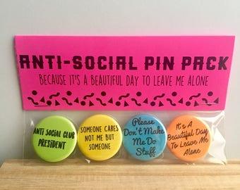 Anti-Social Pin Pack