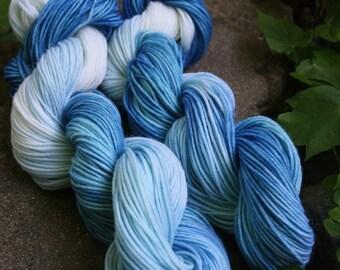 "RawCo. 2 skeins ""Winter Blues"" Wool Yarn // Sport weight"