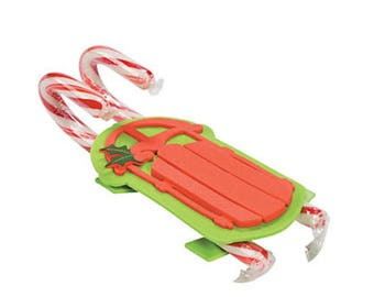 Candy Cane Sled foam craft kit (21), Candy canes, candy sled, craft kits, foam kits, candy sled kit, supplies