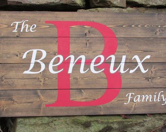 Personalized Sign Rustic Wall Decor Rustic Wood Sign Last Name Sign Wedding Gift Sign Bridal Shower Gift Sign Anniversary Sign Rustic Sign