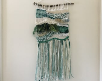Green Up Tapestry // Weaving // Wall Hanging
