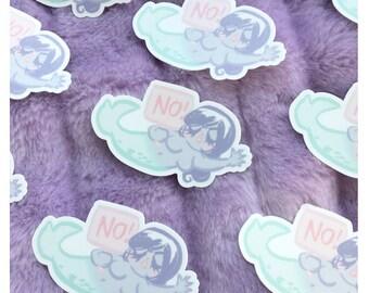 NO! Mermaid Die Cut Vinyl Sticker