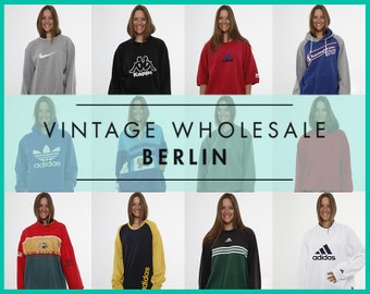 Please contact us before you order ! Vintage SPORTS BRANDED SWEATSHIRTS Mixed lot x 10 items, wholesale