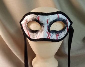 BLOODY MUSIC Handpainted Masquerade Mask