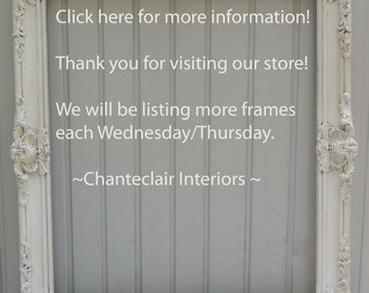 White Picture Frame / Frame Not for Sale  -  Information Only / Ornate Picture Frame / White Wood Frame / Photographers Frame / Wood Frame