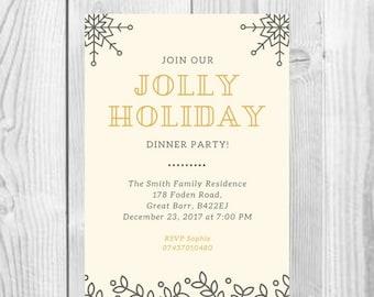 DIGITAL Christmas Dinner Party Invitation