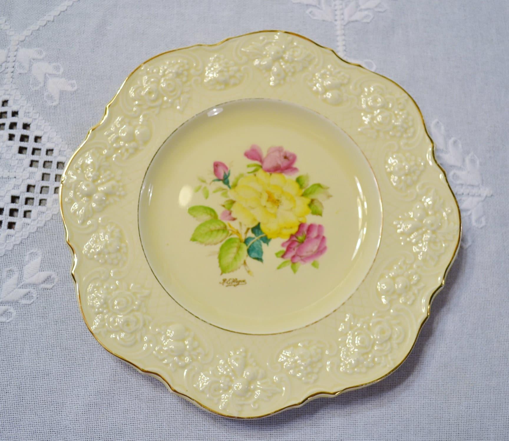 Vintage Ducal Rose Dinner Plate Crown Ware Hand Painted