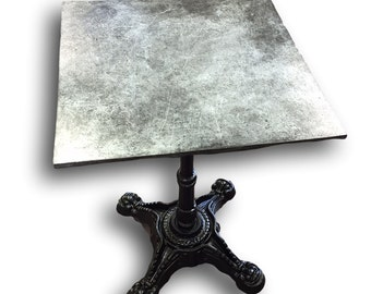 Hand Poured Square Zinc Side Table Top Textured from Artisan Cast Zinc- Top Only