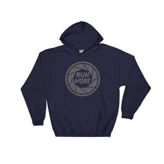 Run More Kaleidoscope Hooded Sweatshirt - Unisex - Heavy Running Sweatshirt