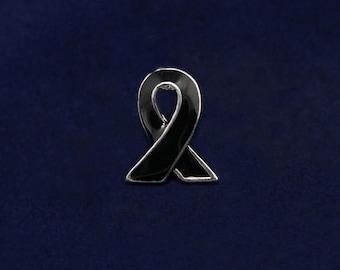 Lapel Black Ribbon Lapel Pin (RETAIL) (RE-P-06-17)