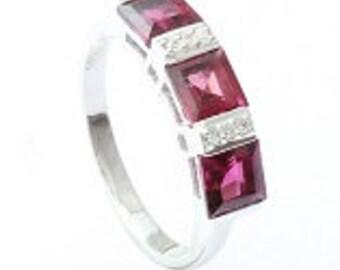 Rhodolite ring,925 sterling silver ring,Handmade ring, Rhodolite gemstone ring,silver ring