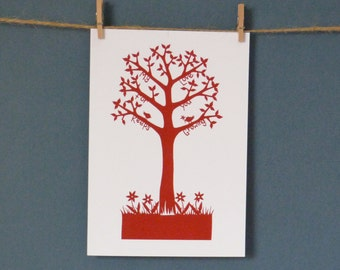 """HALBEN Preis Grußkarte """"Liebe Baum"""" Papier Schneiden von Loula Belle zu Hause entnommen"""