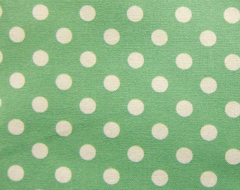 Large Dots in Mint Green Fabric - Polka Dots Cotton Fabric By The Yard - Fat Quarter
