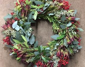 Premium Winter Wreath - 20 inches