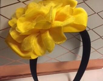 Yellow Flower Box Headband