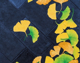 Gingko Leaves on Pavement