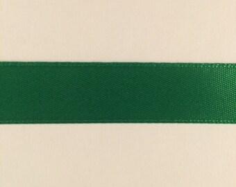 5/8 inch Emerald Green Double Face Satin Ribbon