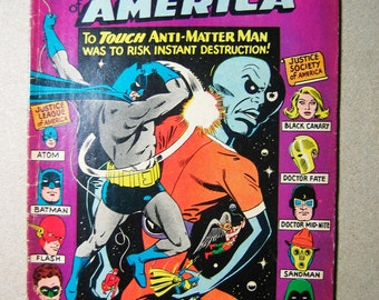 Old Comic Book, Justice League of America #47, Anti Matter Man, Comic Book, Vintage Comic, Collectible, 1960s, Super Heroes, Hawkman, Batman