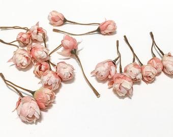 Artificial Peach Hops Blossoms - Artifial Flowers, Silk Flowers, Flower Crown
