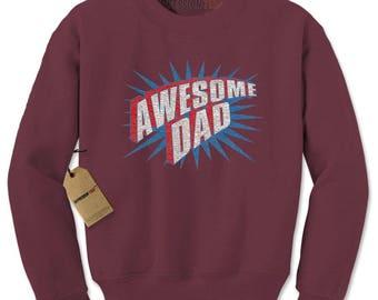 Awesome Dad Adult Crewneck Sweatshirt