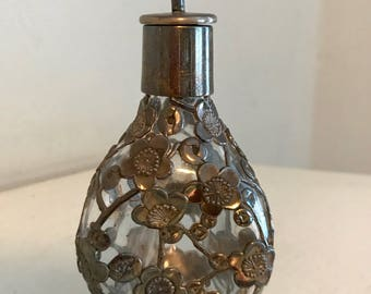 Antique 950 Pinched Sterling Silver  Decanter