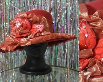 Mr. Hi Classic Wool Burnt Orange Wide Brim Hat *Excellent Condition