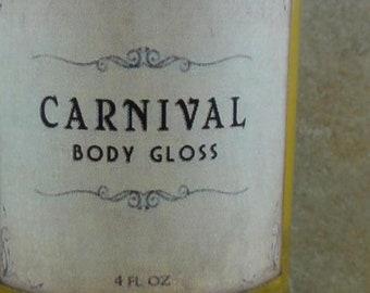 Carnival - Body Gloss - Pink Grapefruit, Cotton Candy, Caramel, Bourbon Vanilla
