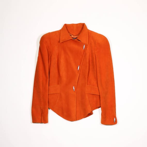 Orange MUGLER THIERRY velvet velvet Orange THIERRY jacket MUGLER 1ZCxw