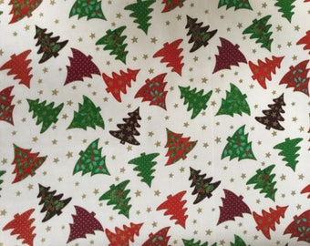 Christmas trees Multicoloured oil cloth by the half metre