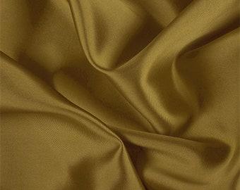 Gold/Black Silk/Wool Gab, Fabric By The Yard