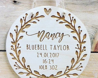 Laser cut plaque etsy personalised birth announcement plaque new baby gift baby boy girl gift baptism negle Choice Image
