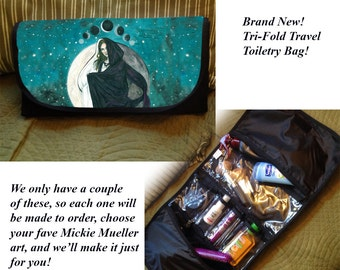 Pick Your Fave Art: Trifold Toiletry Travel Bag