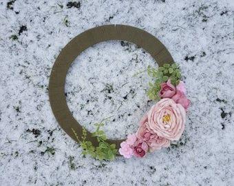 Floral decorative boho wall wreath